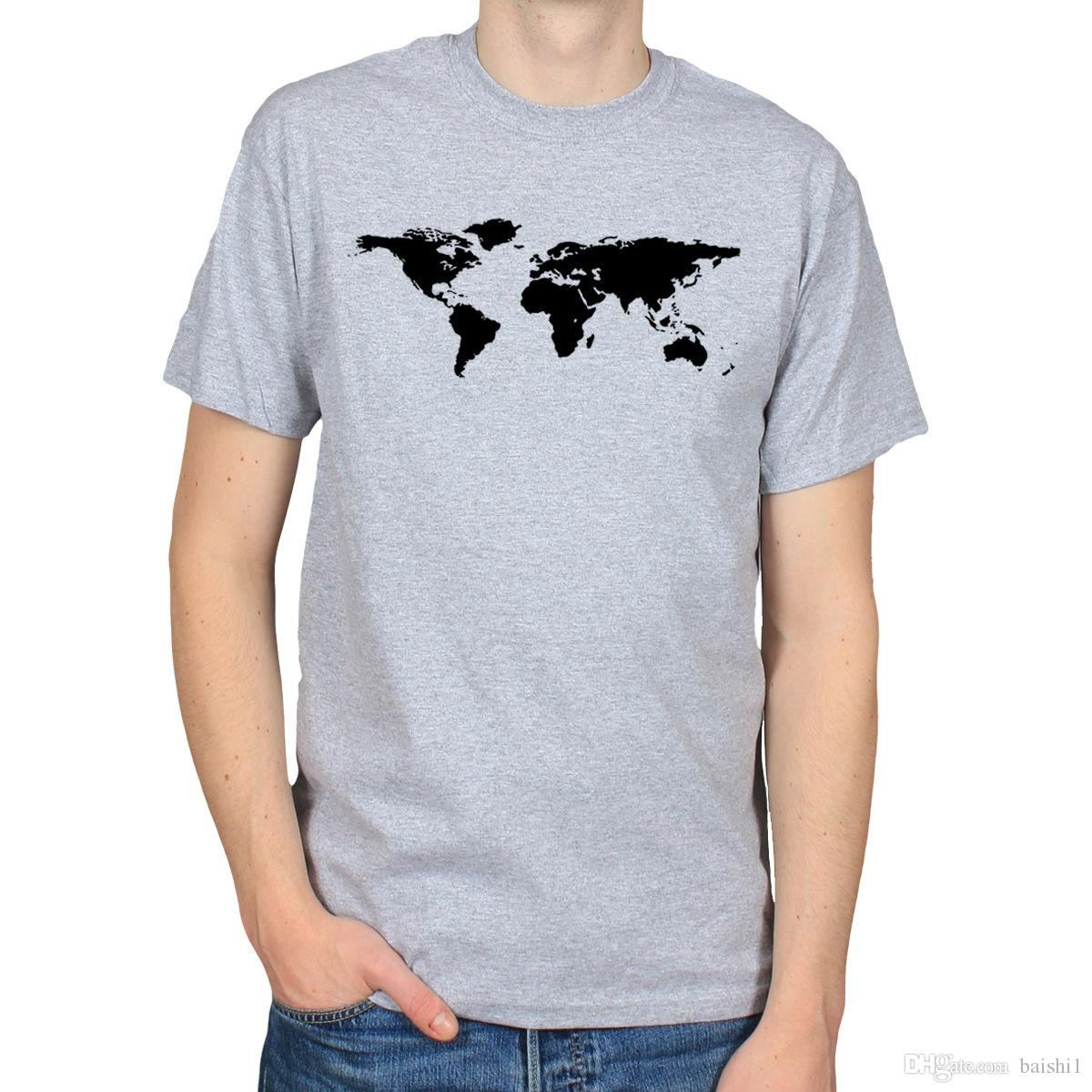 6422aa28 WORLD MAP GEOGRAPHY ATLAS EARTH GLOBE NATION COUNTRY HIPSTER MENS T SHIRT  TEE Men'S Funny Harajuku T Shirts Best T Shirt Online Buy Funky T Shirts  Online ...