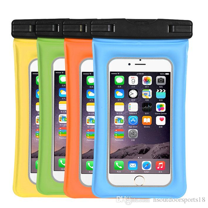 new style 68137 a2215 Wholesales Popular Colorful Floating Waterproof Phone Case Bag for water  park, floating Waterproof Pouch for smart phone