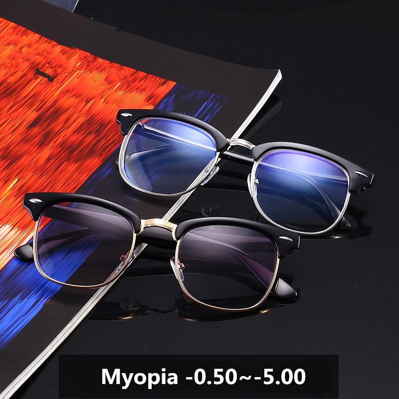347515fe06 Cheap Nearsighted Glasses Finished Retro Plate Myopia SunGlasses Eyewear  Prescription Glasses Frame 3016 with Degree-0.5 ~-5.0