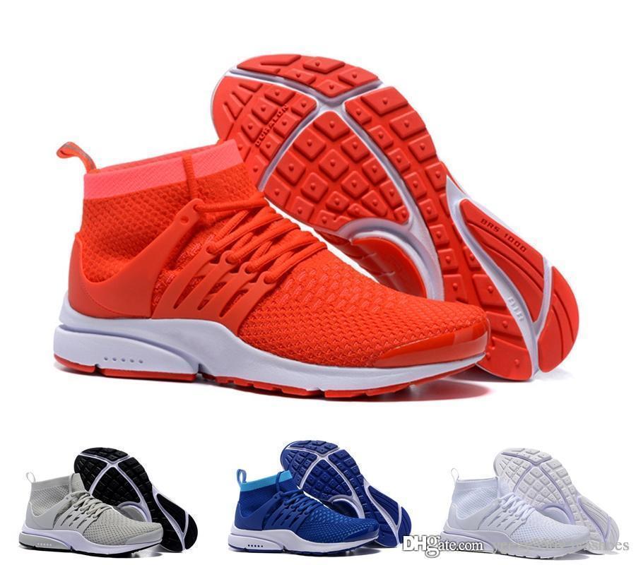 online retailer 8bf07 a9b5e Acheter Nouvelles Chaussures De Course Presto Ultra Run Triple Noir Blanc  Jaune Chaussette Dart Casual Pas Cher Femmes Baskets Hommes Chaussettes  Sport ...