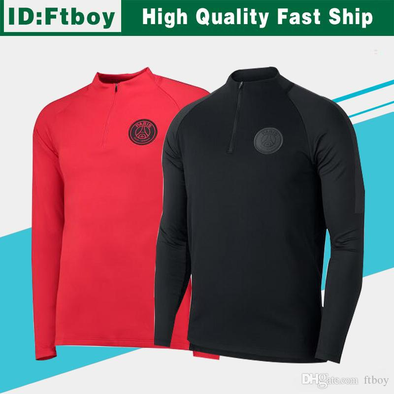 6f58bdf6 2019 New Logo PSG Long Sleeve Jacket 18/19 Paris Saint Germain Black Full  Sleeve Soccer Jersyey 2019 PSG Red Football Shirt Jackets From Ftboy, ...