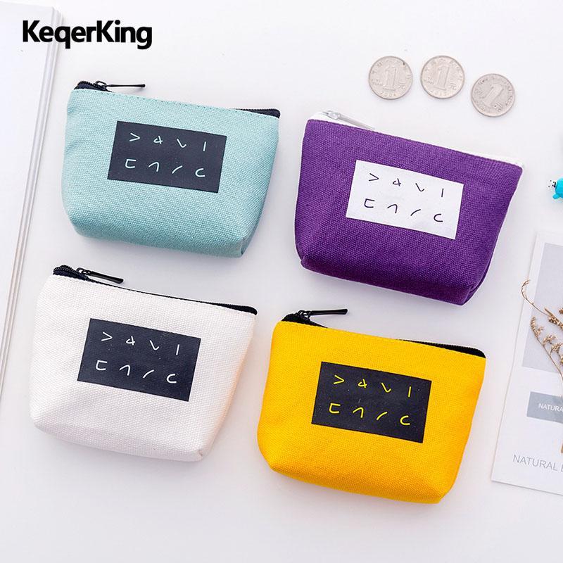 48810820ee8 Fashion Women Mini Purse Cute Coin Purse Pouch Solid Color Canvas Cloth  Small Purses Wallet Coin Bag Holders