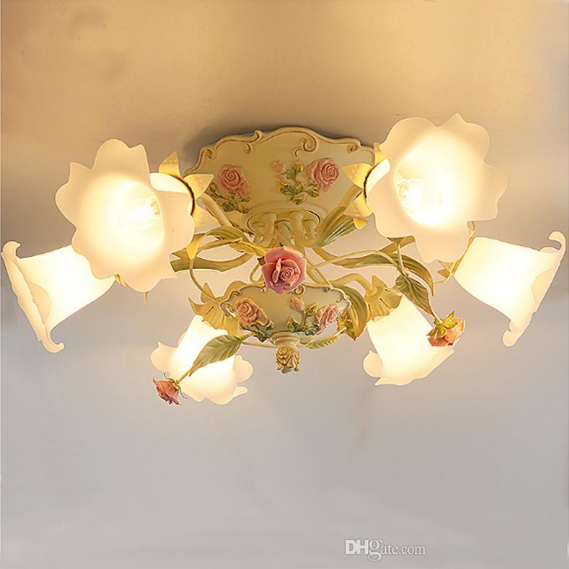 Korean pastoralen Wohnzimmer Esszimmer Deckenleuchten Schlafzimmer Lampe  Schlafzimmer leuchtet romantische Hochzeitszimmer Bekleidungsgeschäft ...