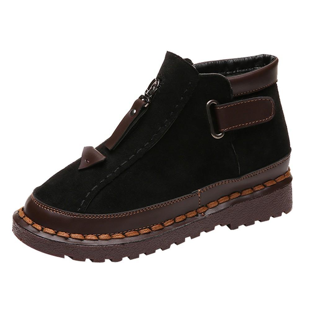 new styles e569e ad885 Scarpa britannica Chelsea stivali donna colorblock con suola spessa delle  donne Brock flat Martin Boot Ladies Shoes Scarpe invernali femminili Botas  ...