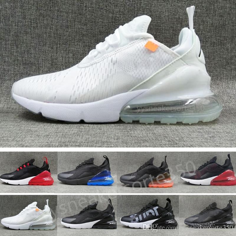 cheap for discount 44cd3 aebf2 Compre Nike Air Max 270 27c Airmax 2018 Flair 270 Moda Hombres Mujeres  Zapatos Casuales Zapatos Deportivos Casuales Triple Blakc Hot Punch Teal es  Que Hacen ...