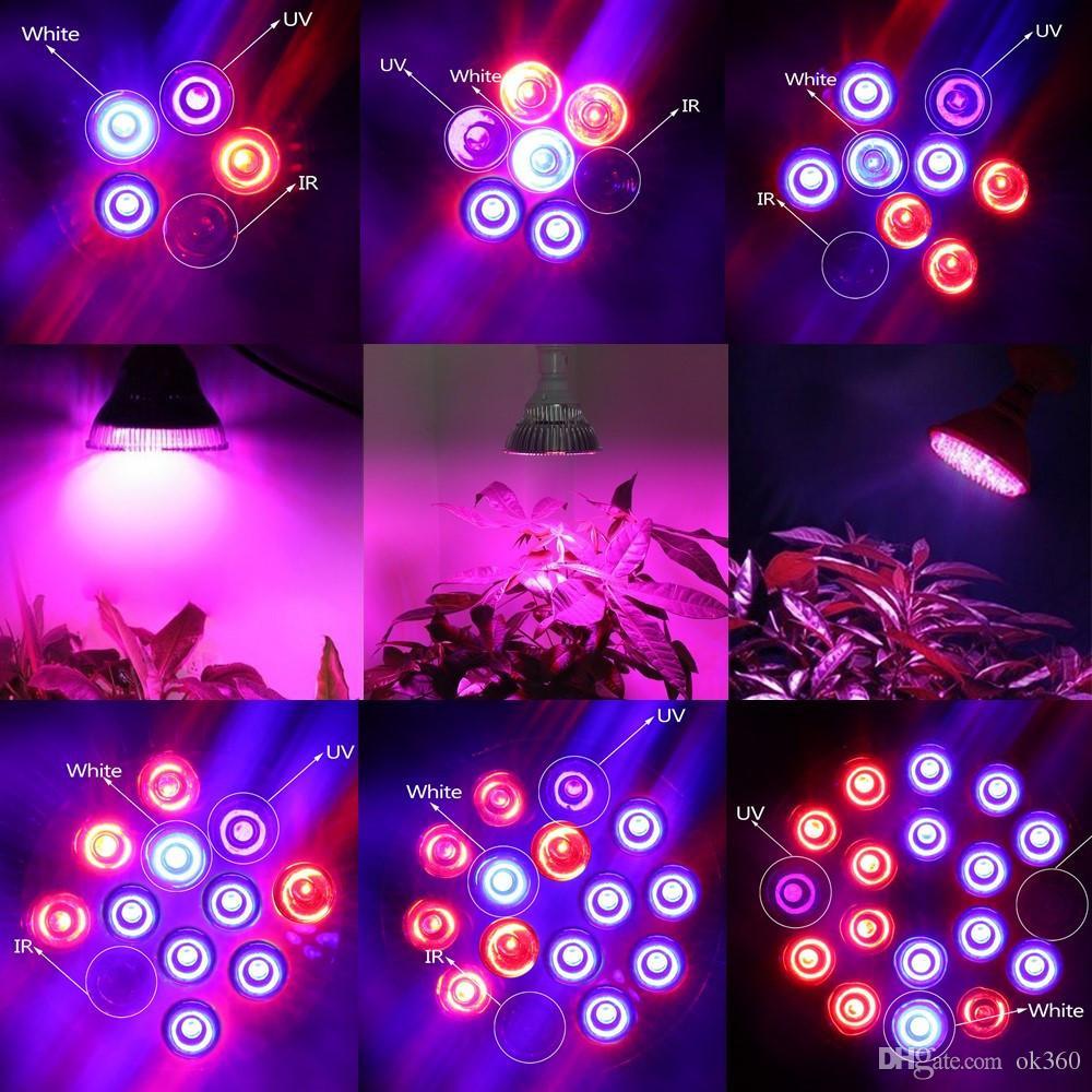 Full Spectrum LED Grow Light E27 15W 21W 27W 36W 45W 54W Lámpara de cultivo para plantas florecientes Sistema hidropónico 85-265V