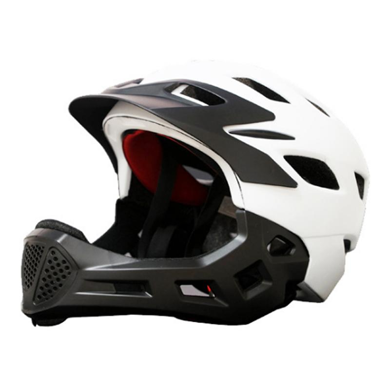 Adult Full Covered Kids Helmet  Bike Children Full Face Bicycle Helmet Cycling Motocross Downhill MTV DH Safety