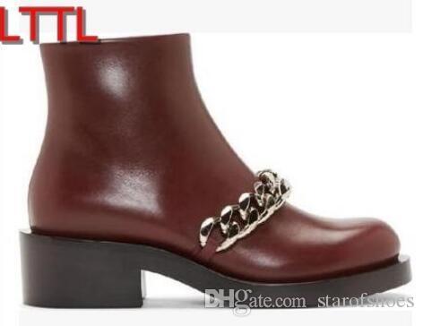 2018 stivaletti donna tacco piatto pelle stampa serpente pelle donne bota catena nastro croce zip laterali gladiator booties dress