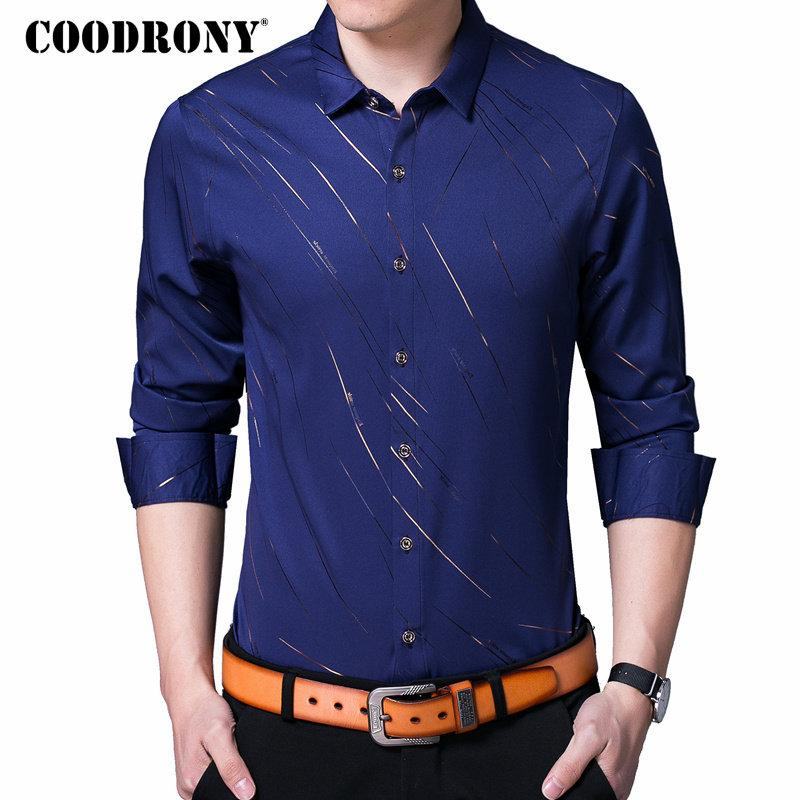 f5b7cf763 2019 20187 COODRONY Casual Shirts Long Sleeve Shirt Men Dress Brand Clothes  2018 Autumn New Arrivals Cotton Camisa Masculina Plus Size 8742 From  Huang03, ...