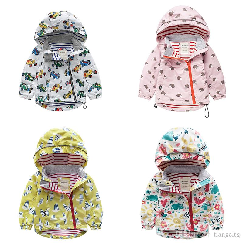15786d3b3 Kids Windbreaker Waterproof Windproof Boy Girls Hooded Cartoon Print ...