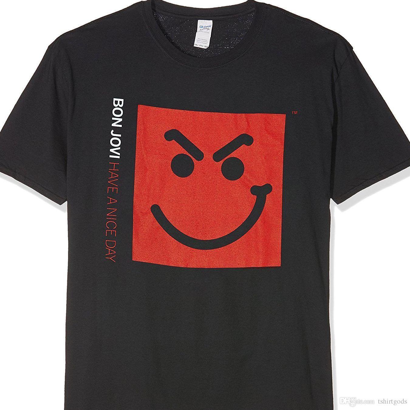T Shirt TagliaS2xl Nice Jovi A Bon Day Acquista SmirkHave j4R5LA