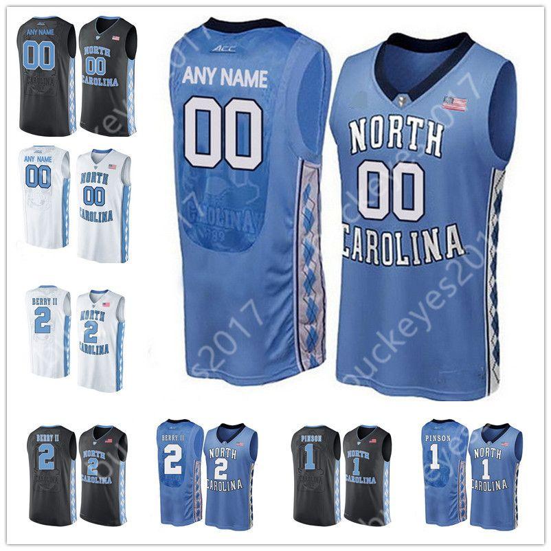 6430a14b5 Custom North Carolina Tar Heels Blue Black White Personalized ...