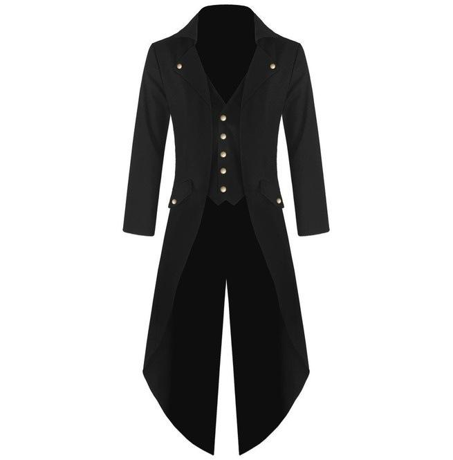 f58aeb7377e 2019 Wholesale YJSFG HOUSE New Mens Tuxedo Coat Steampunk Vintage Tailcoat  Jacket Gothic Frock Coat Top Windbreaker Suit Weeding X Long Outwear From  Ario