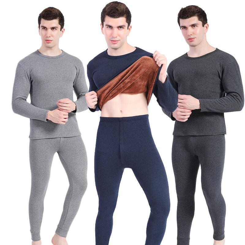 95ad88f45 Men S Thermal Underwear Long Johns Sets Fleece Thick Solid Winter ...