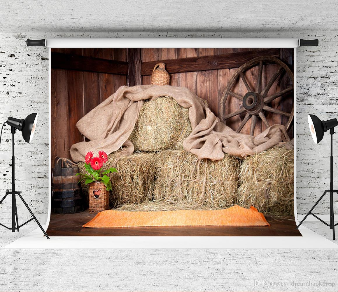 2019 7x5ft Barn Haystack Backdrop Rustic Farm Photography