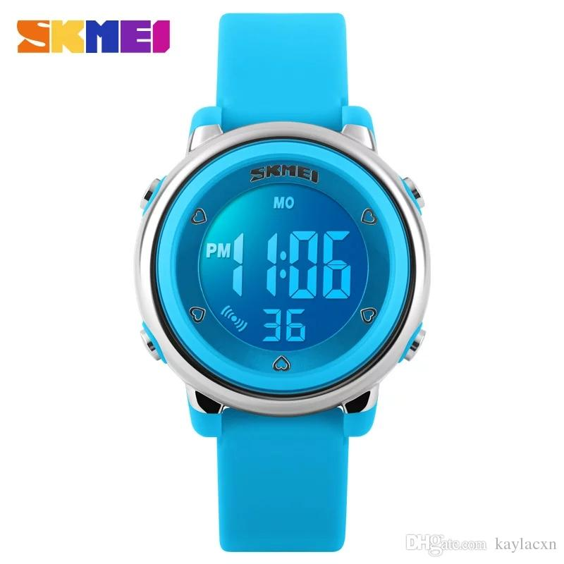 SKMEI Children Sports Watches High Quality Fashion Boy Girl Waterproof  Alarm Watch Kids Back Light Calendar Digital Wristwatch WholeSale Children  Watches ... 99bebea1b1b