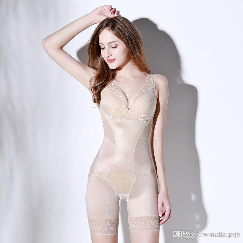 c43a805ed6 2019 Womens Full Body Shapewear Anion Shaping Underwear Body Shaper Clothes  Corset Slimming Weight Loss Reductive Strip Woman From Millerjojo