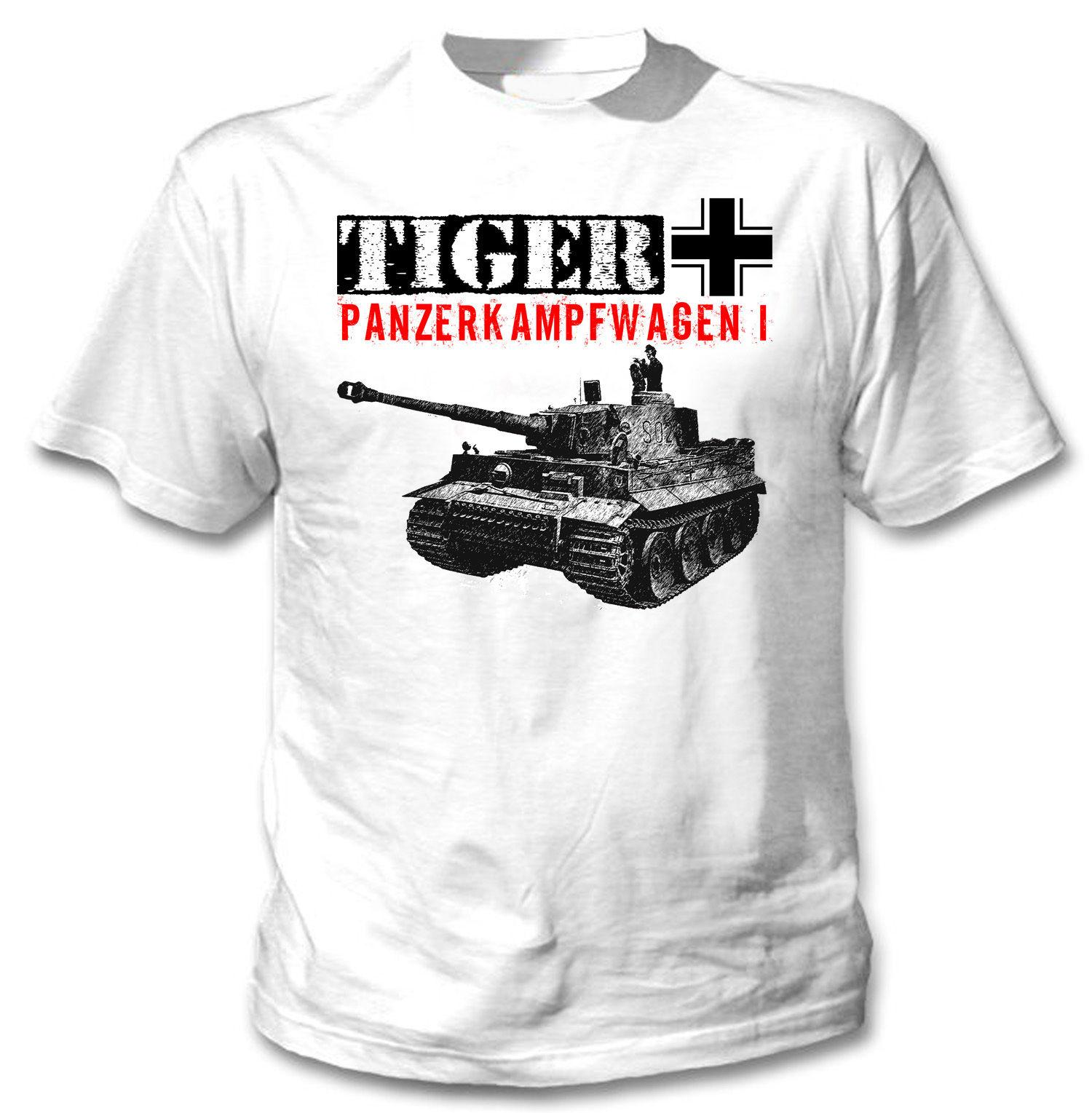 2018 New Cool T Shirt Tiger I Wwii German Tank New White Cotton