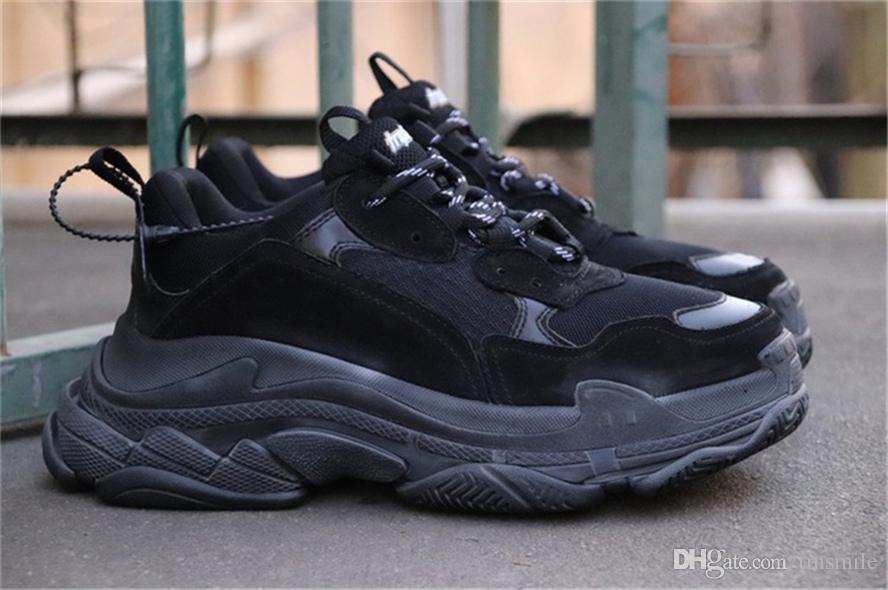 2f7ac2832bdd Hottest A19Balenciaga Triple S Speed Trainer Triple Black Shoes ...
