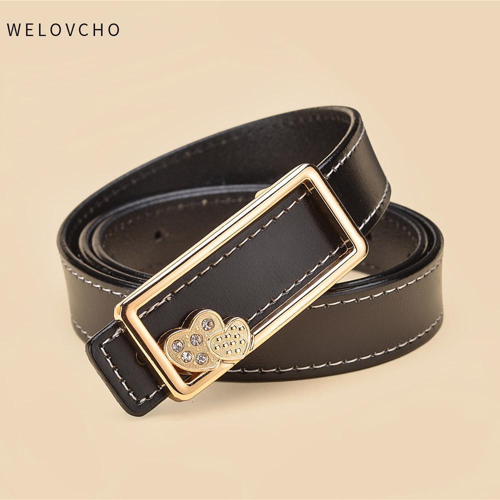 3f4f4dcb6ea WELOVCHO Fashion Gold Buckle Belts Female Leather Strap Belts Women Clothing  2.3cm Width Of Waist Cummerbunds Ladies Girdles Western Belts Mens Leather  ...