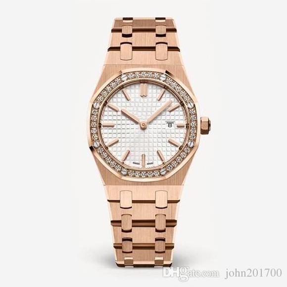dcd3b883f8ce Compre Reloj De Señora A Estrenar Reloj De Lujo Para Mujer Reloj De Pulsera  De Cuarzo De Aleación De Acero Inoxidable De Estilo Clásico De Alta Calidad  ...