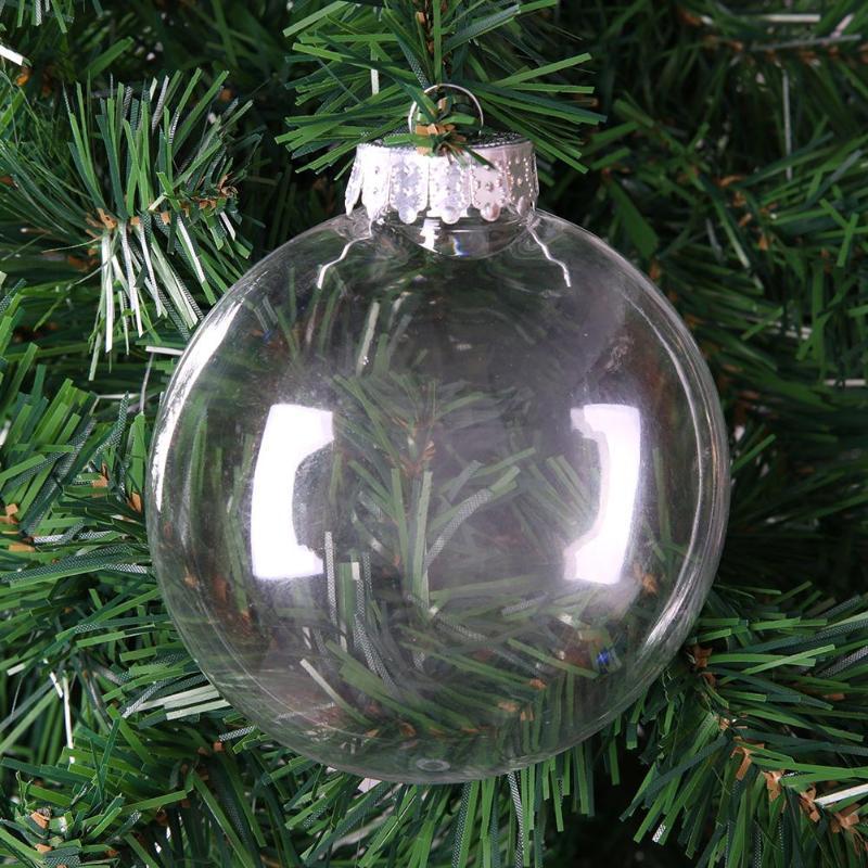 Pet Christmas Decor Clear Charm Flat Ball Pendant Ornaments Diy