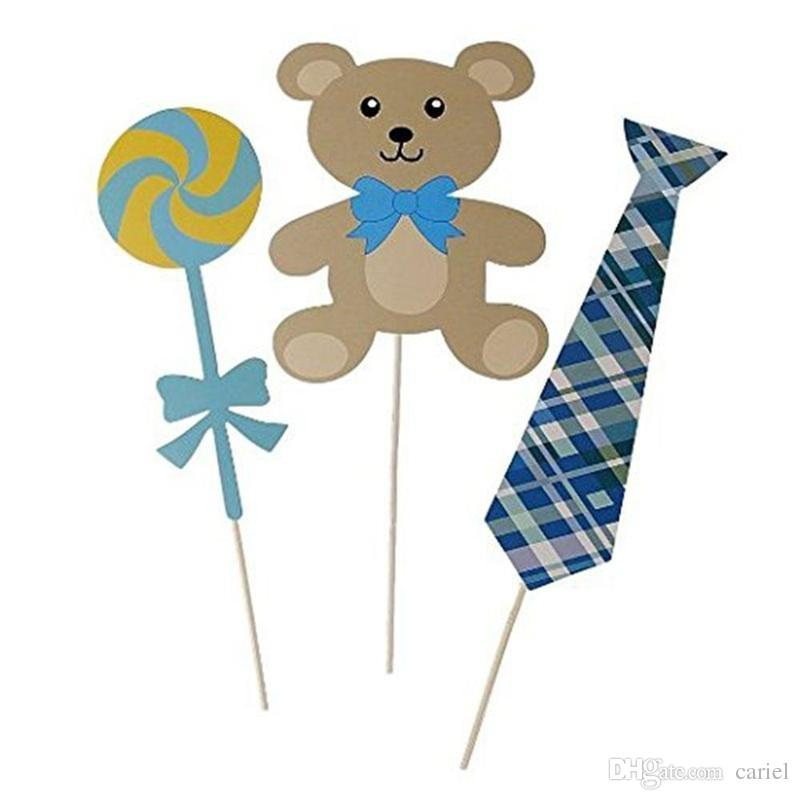 cariel Baby Shower birthday Photo Booth Photobooth Props On A Stick It's a Boy 1st Birthday DIY Kits Fun Party Decoration Centerpieces H308B