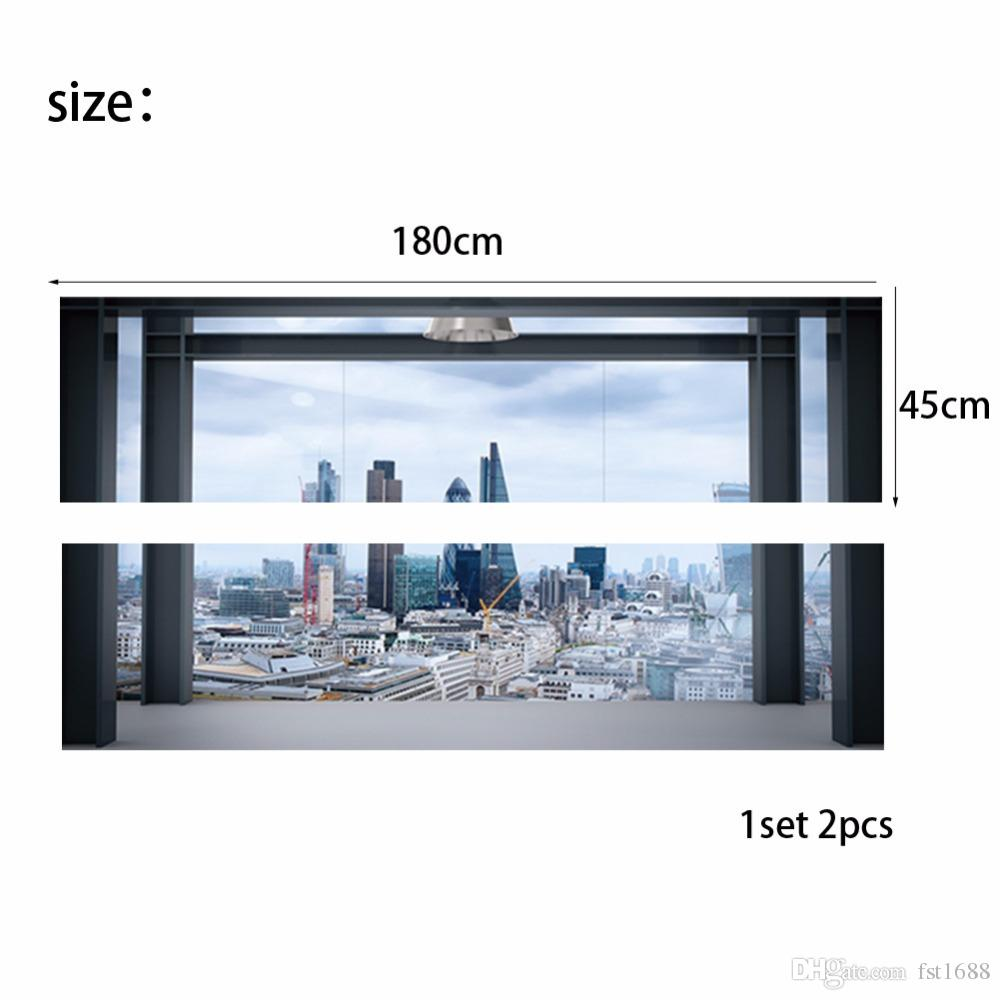 Creative Removable 3D City View Building Sofa Wallpaper Bedside Wall Stickers DIY Art Home Decoration Murals Vinyl Decals
