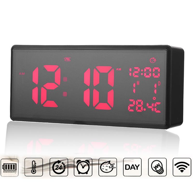 Großhandel 217 96 Cm Digitale Wanduhr Zeit Kalender Temperatur