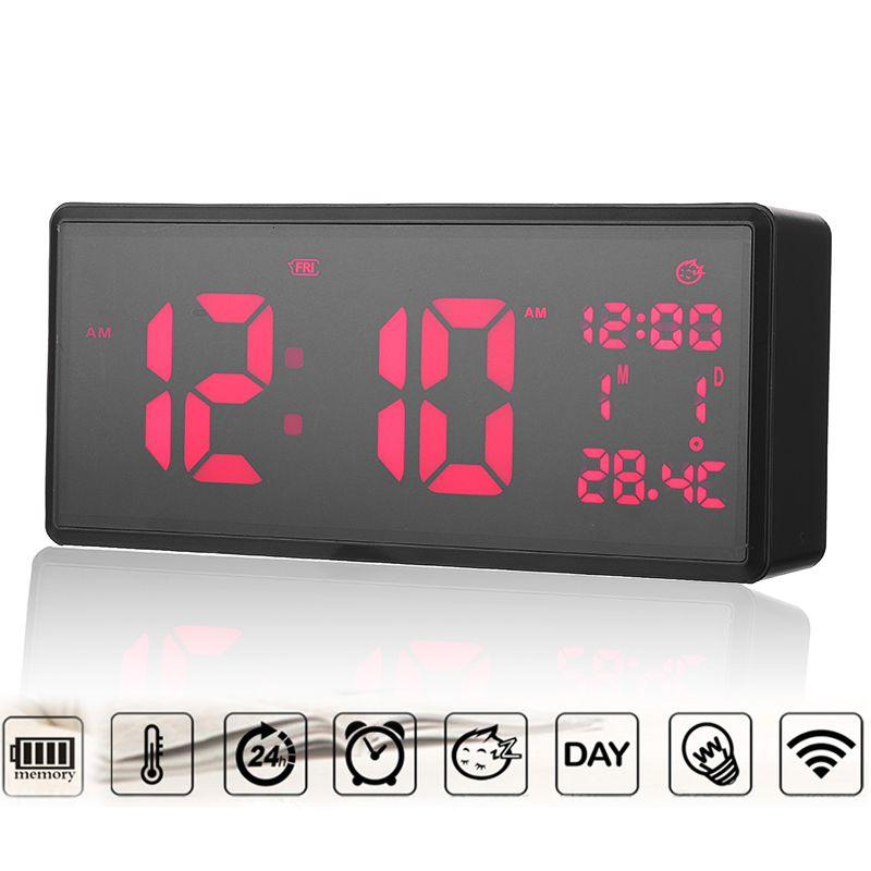 21 7 9 6cm Digital Wall Clock Time Calendar Temperature Smart Large