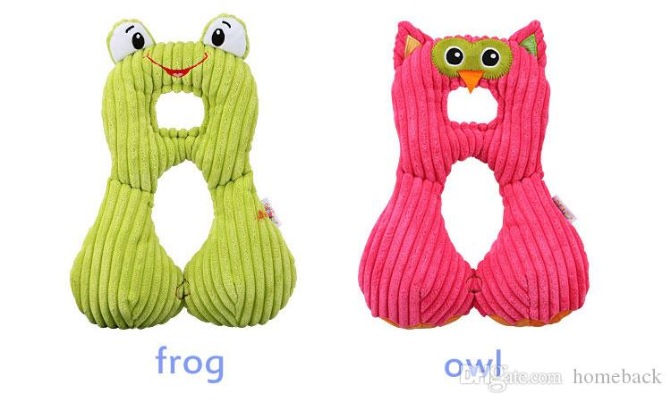 Cute Animal Shape Baby Pillow Neck Protection Pillow For 0-12Years old Kids Infant Toddler Safety Seat Pillow Travel Accessories