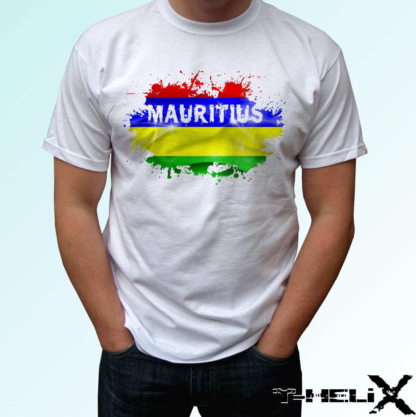ac8050f136e Mauritius Flag White T Shirt Top Country Design Mens Womens Kids Baby Sizes  Cool Casual Pride T Shirt Men Unisex Buy Cool Shirts Online Funny T Shirt  Sites ...