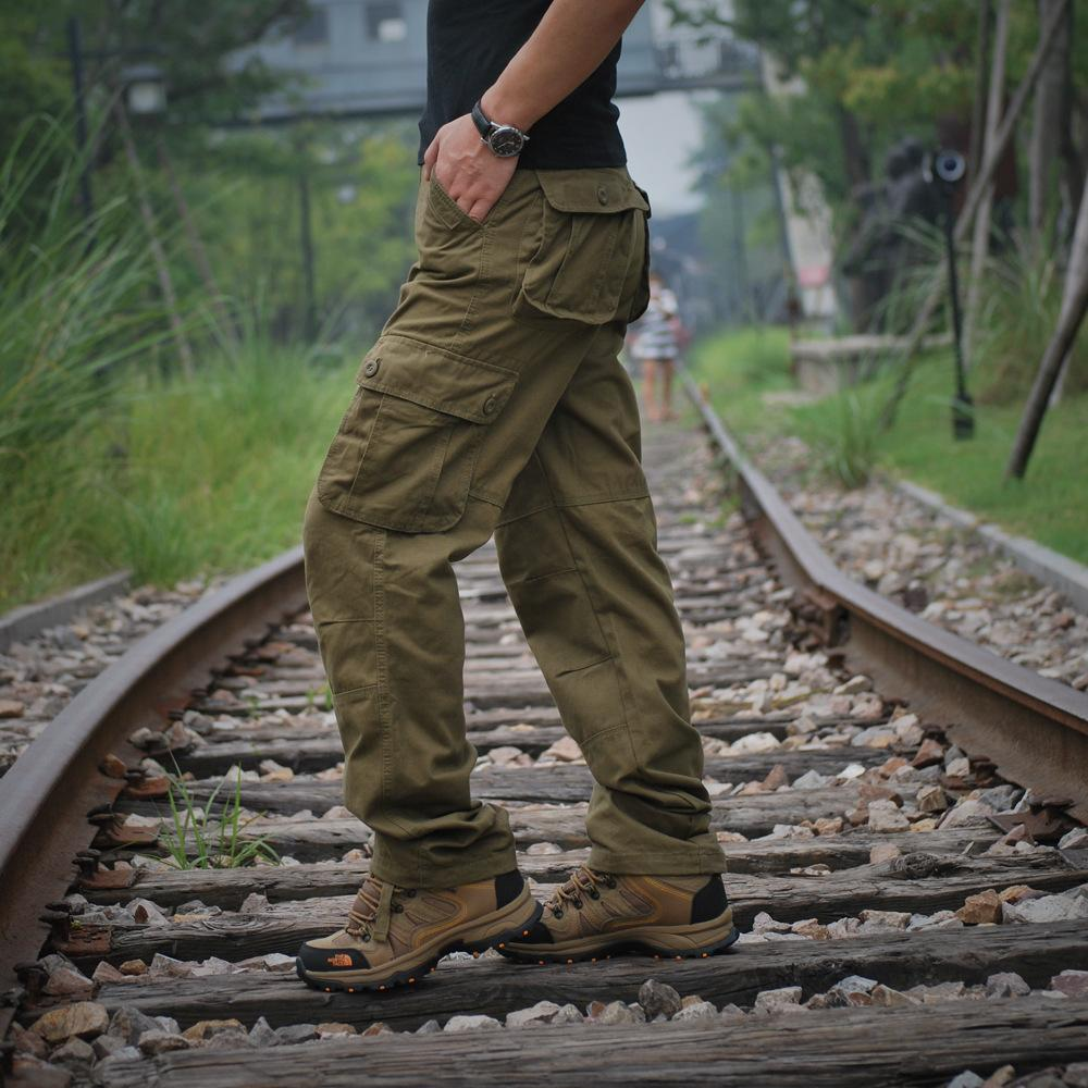 120a4430941 2019 Cargo Pants Men Military Working Tactical Pants Clothes Bomber Pantalon  Overalls Army Loose Pants Plus Size Trousers Plus Size Y1892801 From Tao01