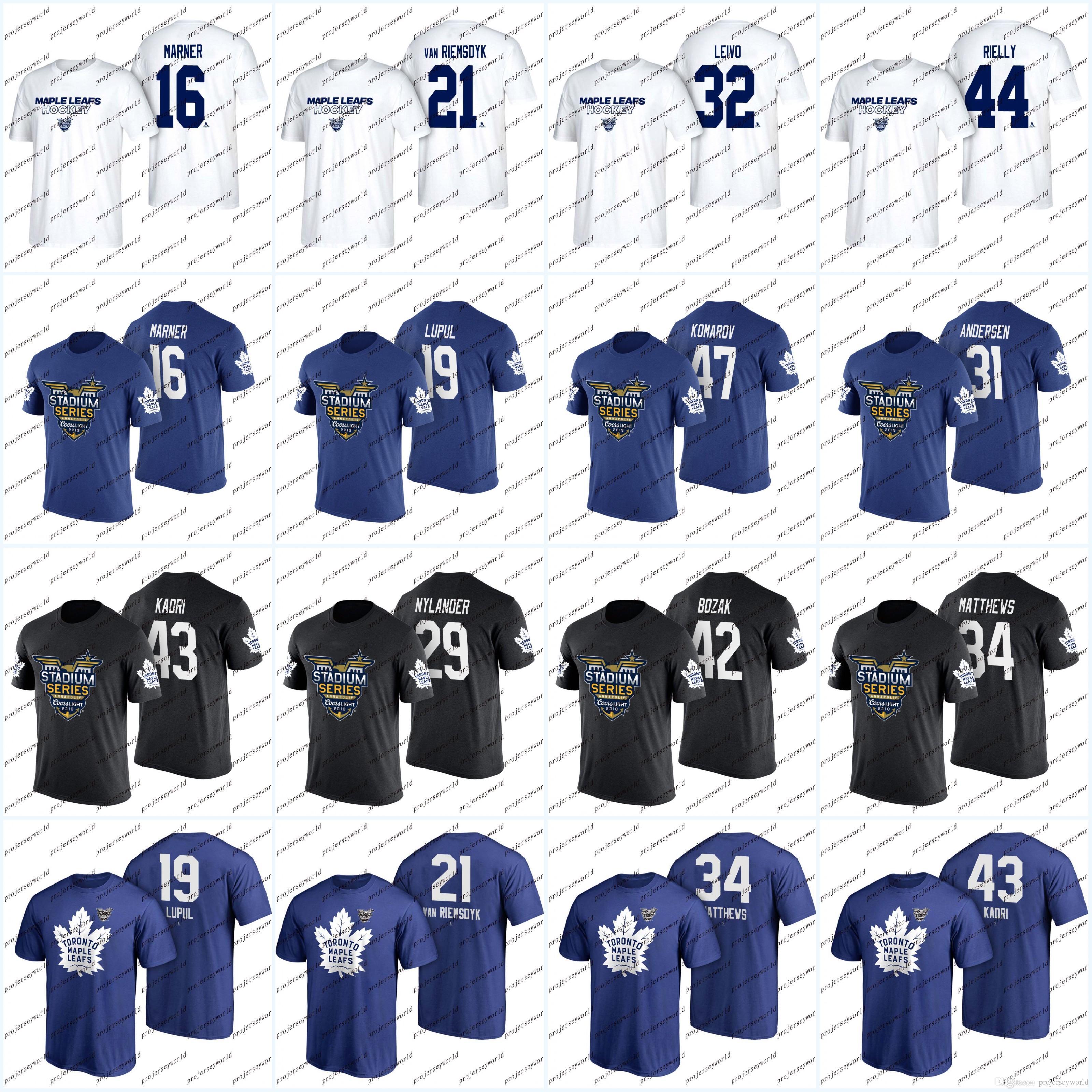 4e7e95d885a 29 William Nylander 2018 Stadium Series Toronto Maple Leafs T-shirt ...