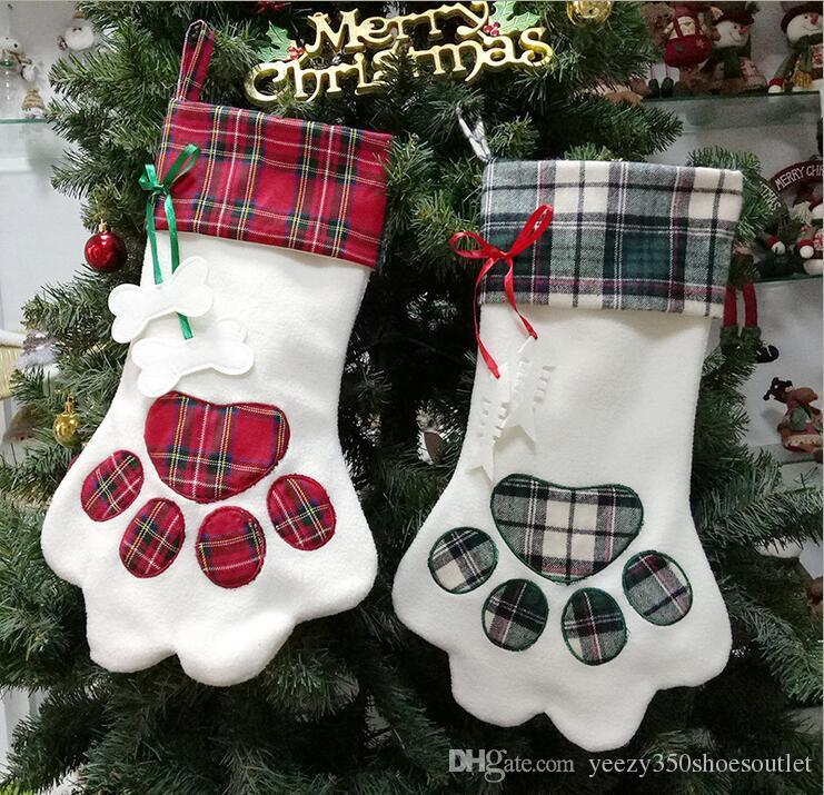 christmas stockings amazon explosion models new custom dog paw pendant christmas decorations candy bags christmas ornament christmas ornament decorations