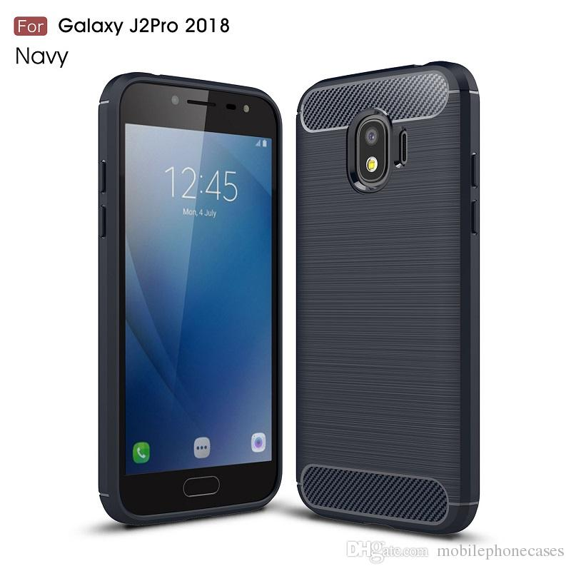 CellPhone Cases For Samsung Galaxy J2pro 2018 TPU Carbon Fiber heavy duty case for J2pro 2018 cover