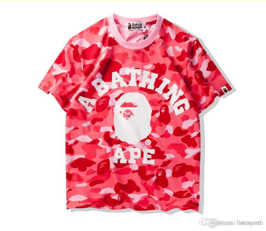 9506d3ba5599 Summer Camouflage T-Shirts For Teenager AAPE Tide Brand Oversized T ...