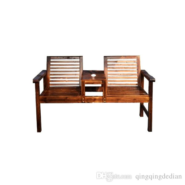 Beau Carbonized Wood Outdoor Leisure Table And Chairs Balcony Garden Garden  Simple Table Stool Wooden Long Table Wooden Bench Combination