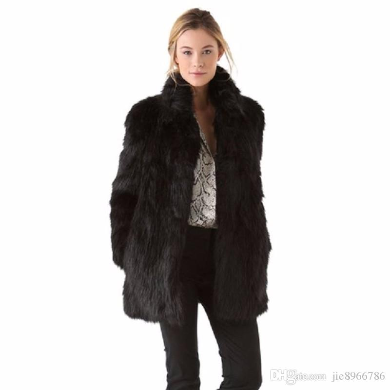 Collar Compre Las Mandarina De Piel Mujeres De De Abrigo Abrigos De xYrqw6YB