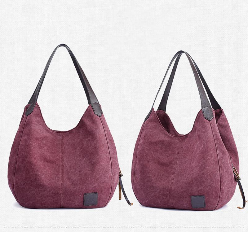 c4e72d5e3c7 Canvas Fashion Women Leisure Brief Shoulder Bag Large Capacity Handbag Cute  Girl Big Tote Bag Design Leather Purse Womens Purses From Superbling, ...