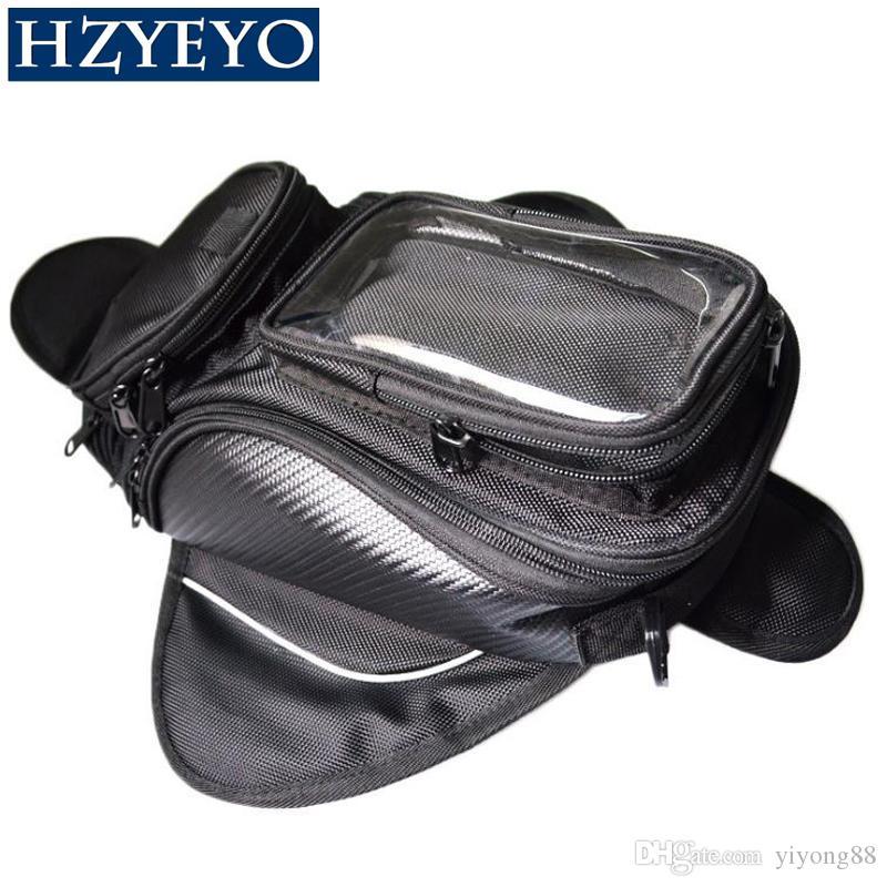 676c4cad21 Compre HZYEYO Bolsa De Tanque De La Motocicleta Combustible De Aceite Bolsa  Impermeable Imán Motorbiker Oxford Impermeable GPS Alforjas Bolsas Equipaje  ...