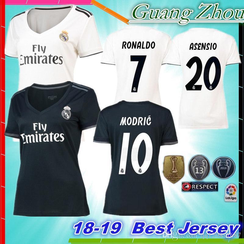 76e98507fbd ... shop 18 19 real madrid women soccer jersey 2018 ronaldo modric kroos  sergio ramos bale real