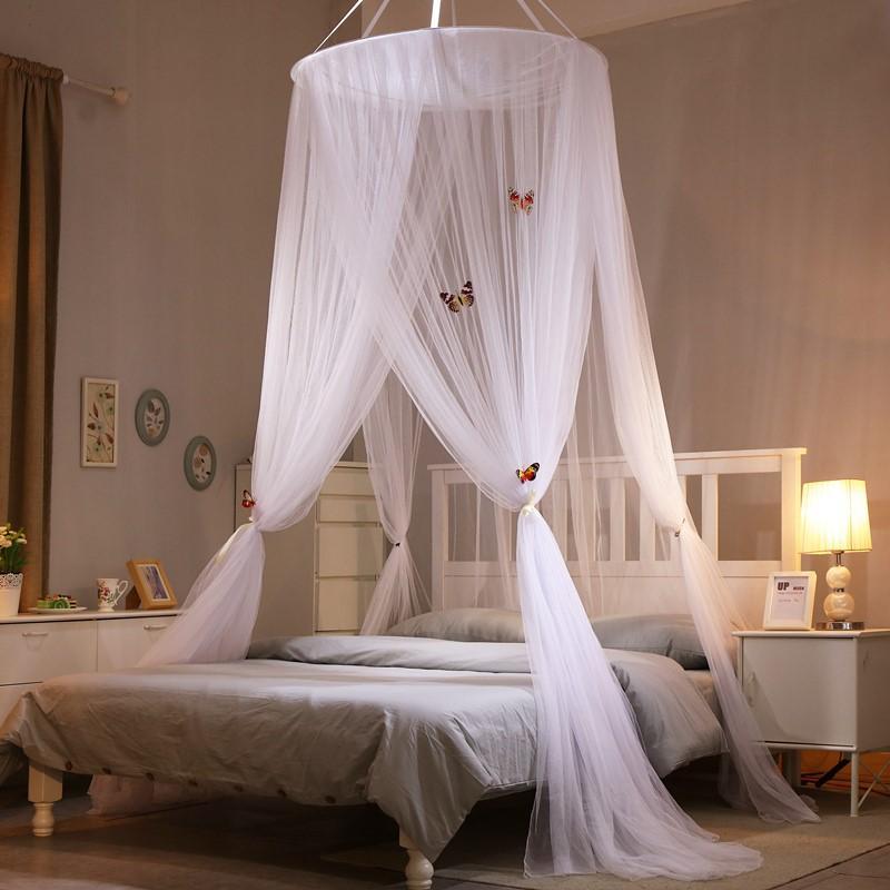 Grosshandel Round Lace Moskitonetz Mit Schmetterling Prinzessin Stil