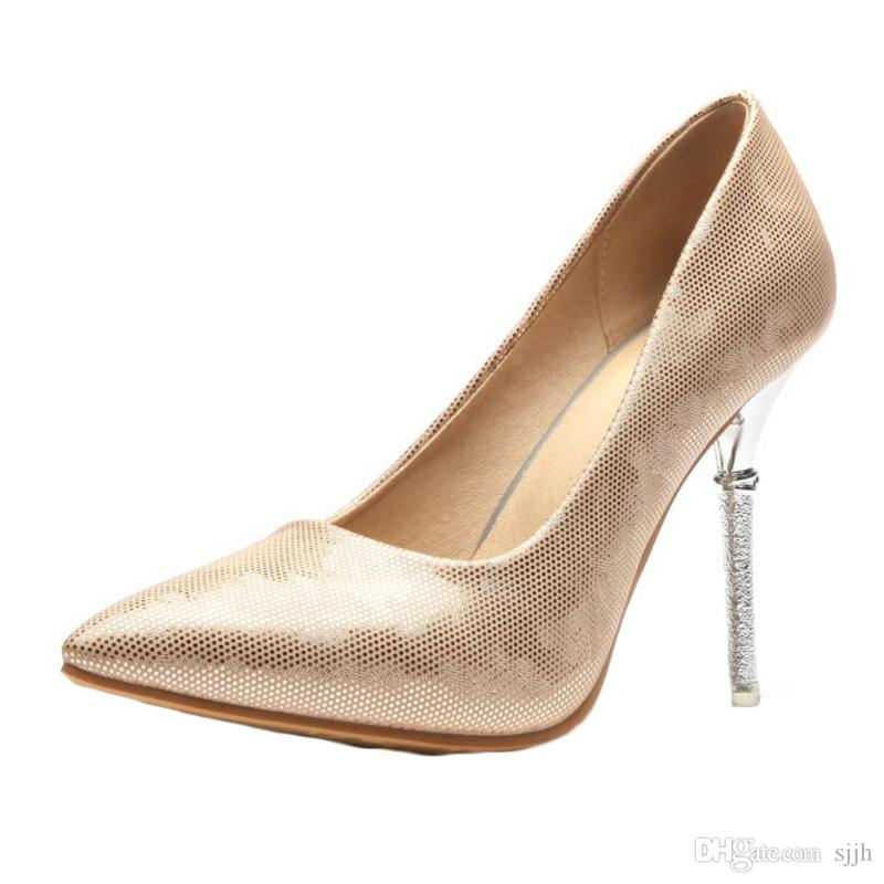 SJJH 2018 Pumps with Pointed Toe and Stiletto Elegant Working Dressy Shoes for Fashion Women with Large Size Available A272
