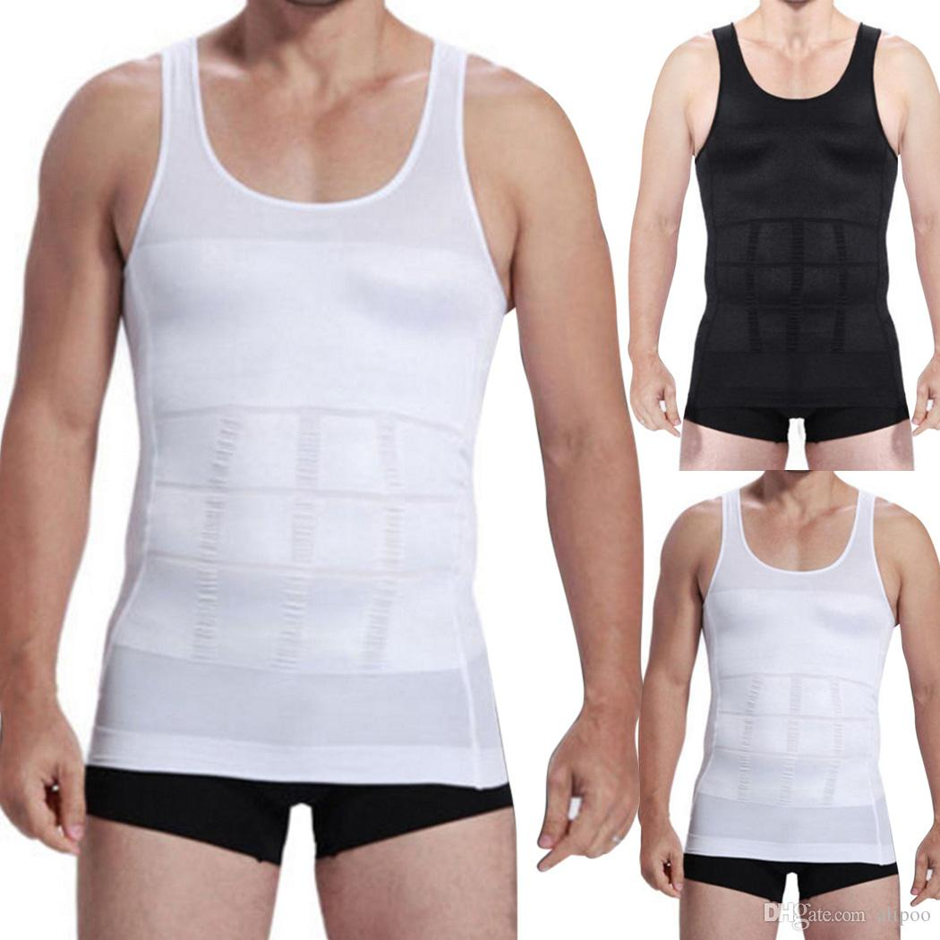 22a22818407 2019 70D S~XXL Slim Vest Mens Tank Tops Slimming Lift Shirt Men Underwear Shapers  Body Waist Shaping Dropshipping From Alipoo
