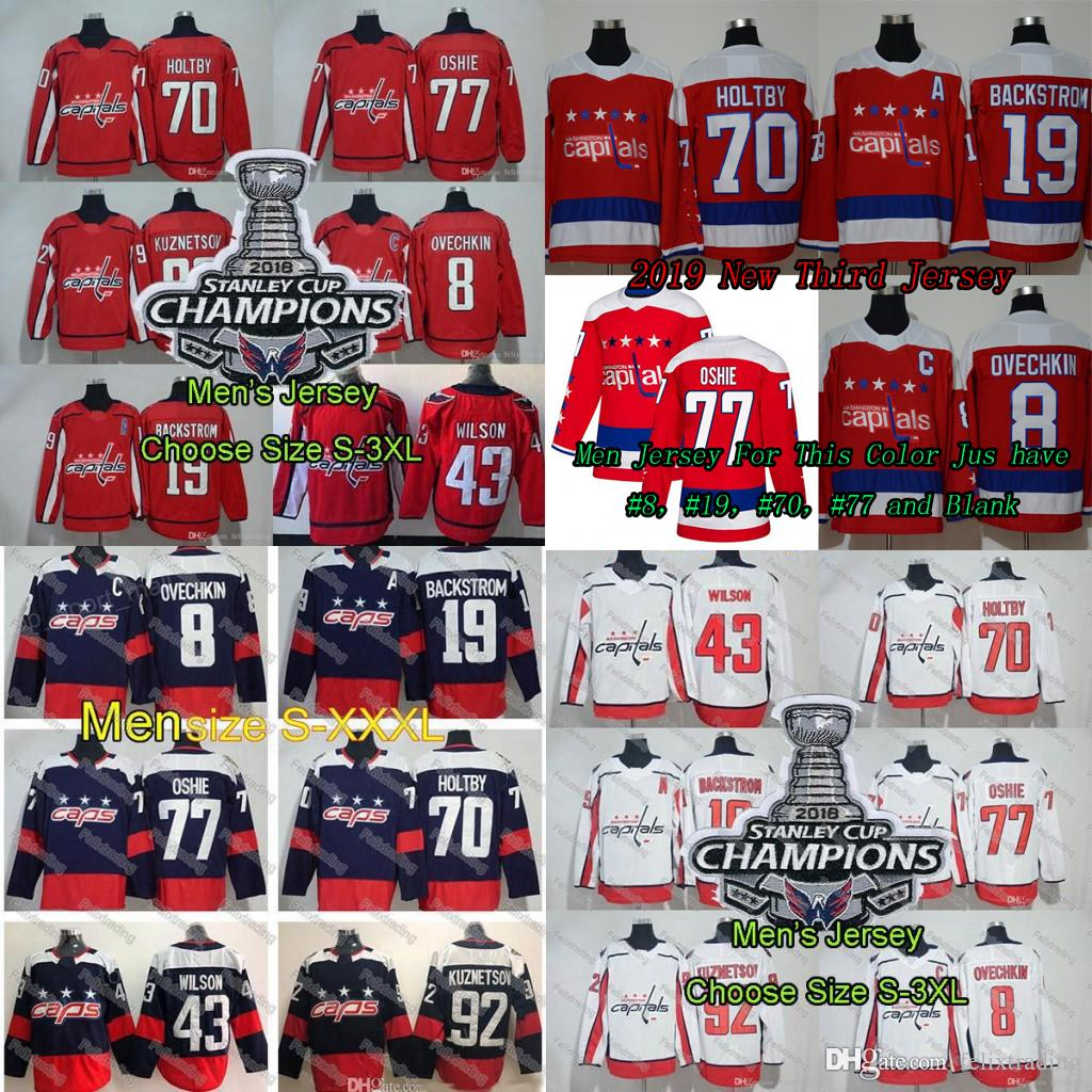 29226111b50 2019 2018 19 Season Alex Ovechkin Washington Capitals Tom Wilson Lady Kids  Men Nicklas Backstrom T.J Oshie Evgeny Kuznetsov Holtby Third Jersey From  ...
