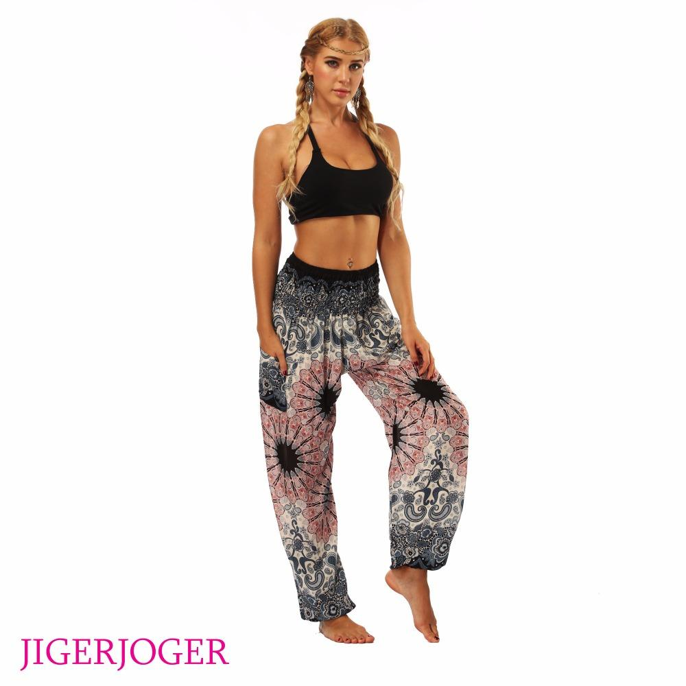 7a537651ac8a1 2019 JIGERJOGER Tie Dye Grey Flower Printed High Waistband Pocket Straight  Loose Yoga Leggings Lounge Balance Workout Pants Bloomers From Yarqi, ...