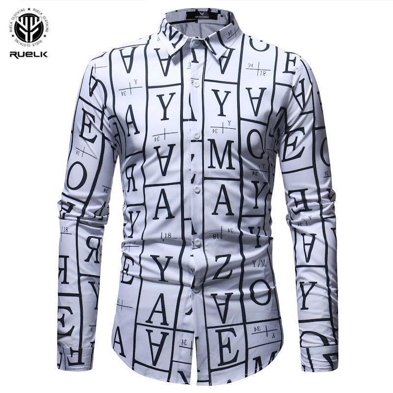 Acquista RUELK 2018 Moda Uomo Manica Lunga Camicia Hawaiana Estate Casual  Camicie Floreali Gli Uomini Asiatici Camicie Mens Vestiti Slim Fit Uomo A   59.65 ... d2fd8685315