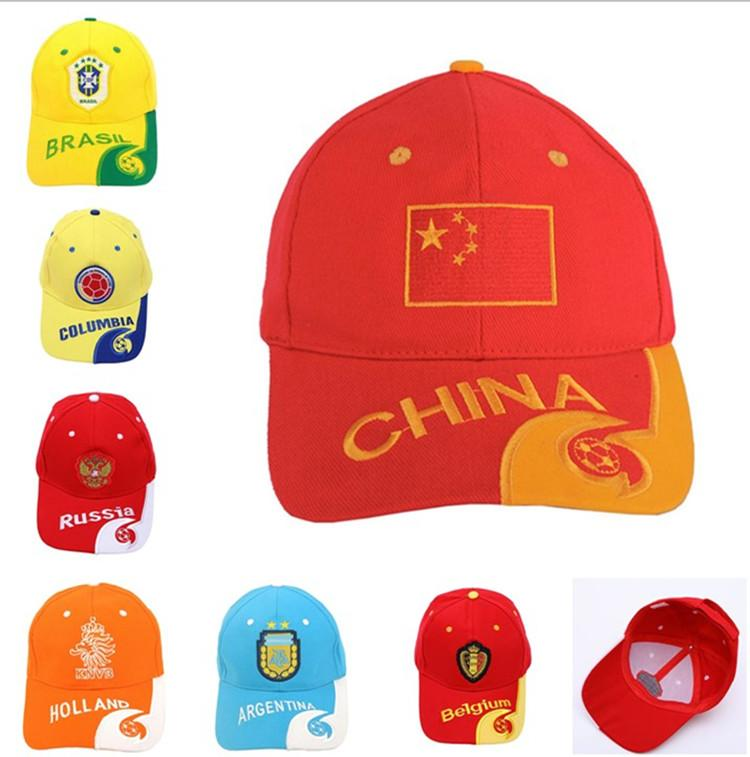 b48469047 World Cup Football Ball Cap Snapback 2018 Russia FIFA Player Baseball Caps  Fans Gifts Hats Brazil Team Logo Hat Soccer Fans Souvenir Sunhat Canada  2019 From ...