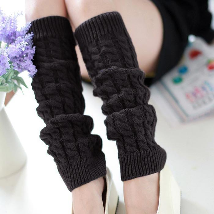 a7ada945375 New Arrival 5 Colors Women s Leg Warmers Sexy Warm Thigh High Over The Knee  Socks Knit Crochet Long Stockings Girls Ladies Women